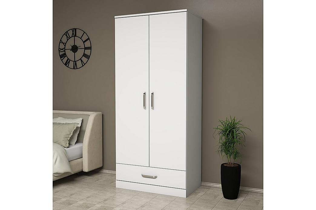 Garderob Deyshaun 81 cm - Vit - Möbler - Förvaring - Garderober & garderobssystem