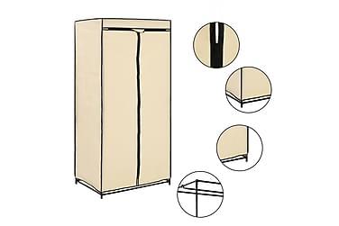 Garderob gräddvit 75x50x160 cm