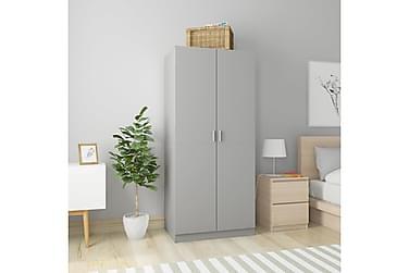 Garderob grå 80x52x180 cm spånskiva