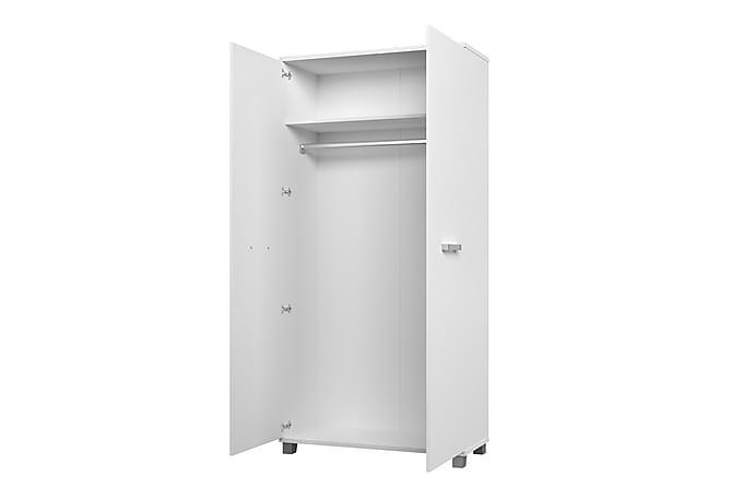 Garderob Maximus 100x51x203 cm - Vit - Möbler - Förvaring - Garderober & garderobssystem