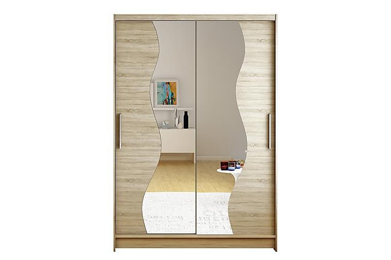 Garderob Miami 120x58x200 cm - Beige - Möbler - Förvaring - Garderober & garderobssystem