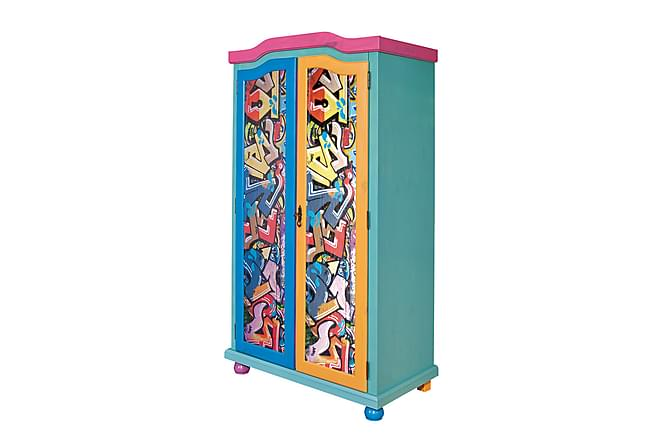 Garderob Pomanda 103 cm - Grafitti - Möbler - Förvaring - Garderober & garderobssystem