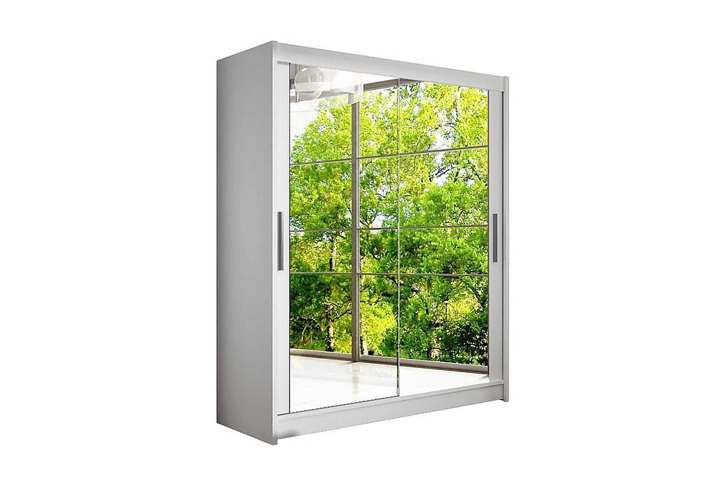 Garderob Presto Skjutdörrar Speglar - Vit - Möbler - Förvaring - Garderober & garderobssystem