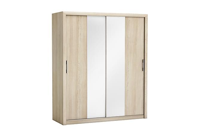 Garderob Pretty 173 cm Skjutdörrar Spegel - Ek - Möbler - Förvaring - Garderober & garderobssystem