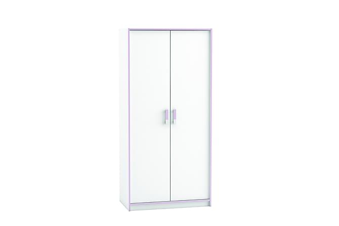 Garderob Purpur 88 cm 2 Dörrar - Vit|Lila - Möbler - Förvaring - Garderober & garderobssystem
