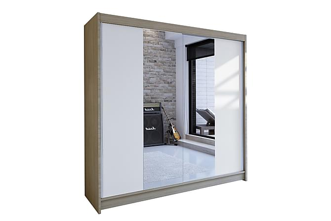 Garderob Talin 180x58x215 cm - Vit - Möbler - Förvaring - Garderober & garderobssystem