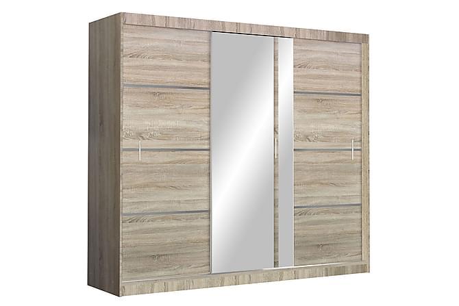 Garderob Vista 250x61x215 cm - Beige|Vit - Möbler - Förvaring - Garderober & garderobssystem