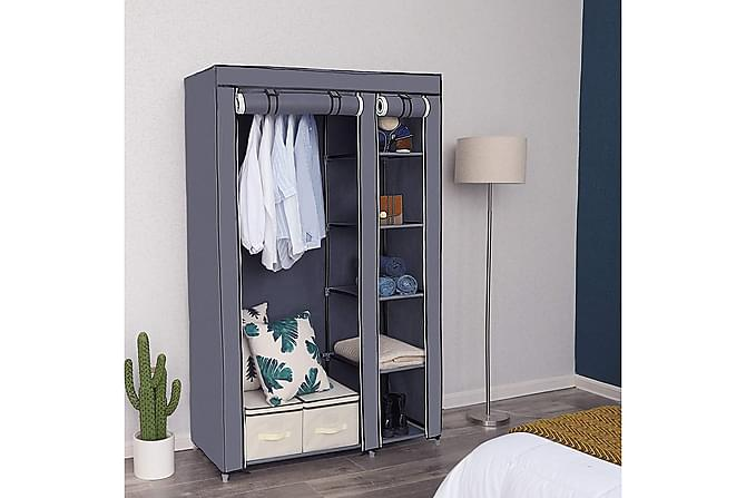 Garderob Wanetta - Grå - Möbler - Förvaring - Garderober & garderobssystem