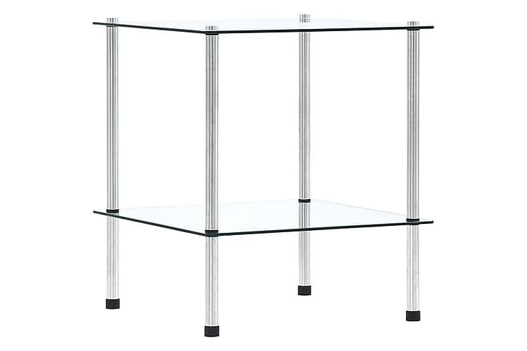 Hylla 2 hyllplan transparent 40x40x47 cm härdat glas - Transparent - Möbler - Förvaring - Garderober & garderobssystem
