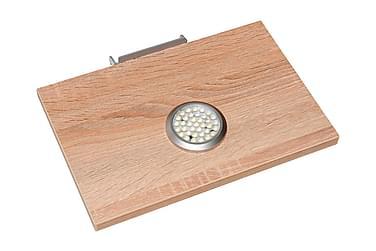 Hyllplan med LED-lampa Sorriso Oljad Ek