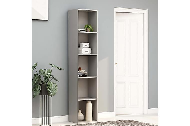 Bokhylla grå 40x30x189 cm spånskiva - Grå - Möbler - Förvaring - Hyllor
