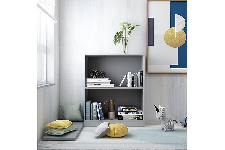 Bokhylla grå 60x24x74,5 cm spånskiva - Grå - Möbler - Förvaring - Hyllor