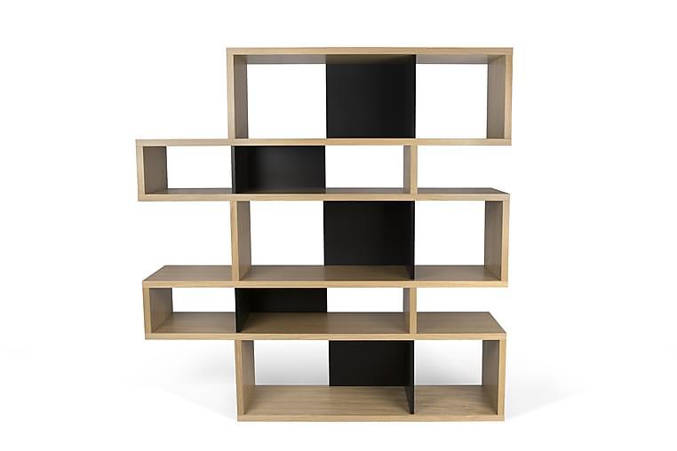 Bokhylla London 156x160 cm Ek/Svart - Temahome - Möbler - Förvaring - Hyllor