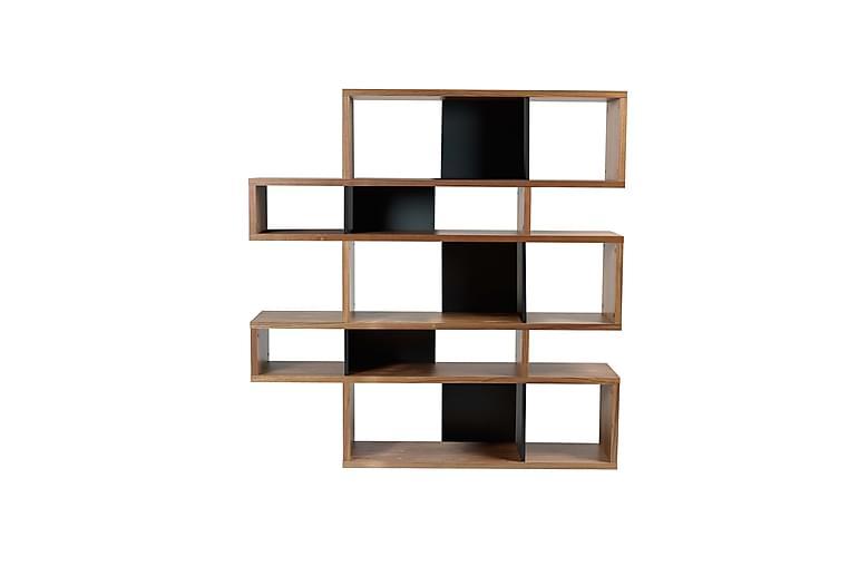 Bokhylla London 156x160 cm Valnöt/Svart - Temahome - Möbler - Förvaring - Hyllor