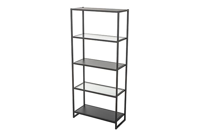 Bokhylla Rieste 80 cm - Svart|Glas - Möbler - Förvaring - Hyllor