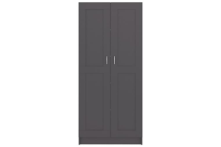 Bokskåp grå 82,5x30,5x185,5 cm spånskiva - Grå - Möbler - Förvaring - Hyllor