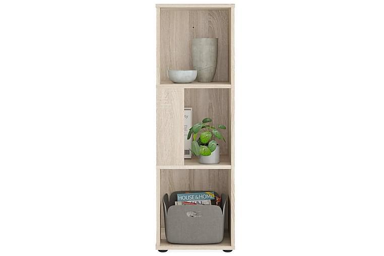 FMD Hörnhylla med 6 utrymmen sonama-ek - Beige - Möbler - Förvaring - Hyllor