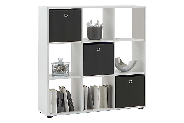 FMD Stående hylla med 9 fack vit - Vit - Möbler - Förvaring - Hyllor