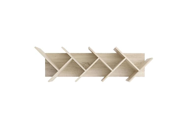 FMD Vägghylla geometrisk ek - Möbler - Förvaring - Hyllor