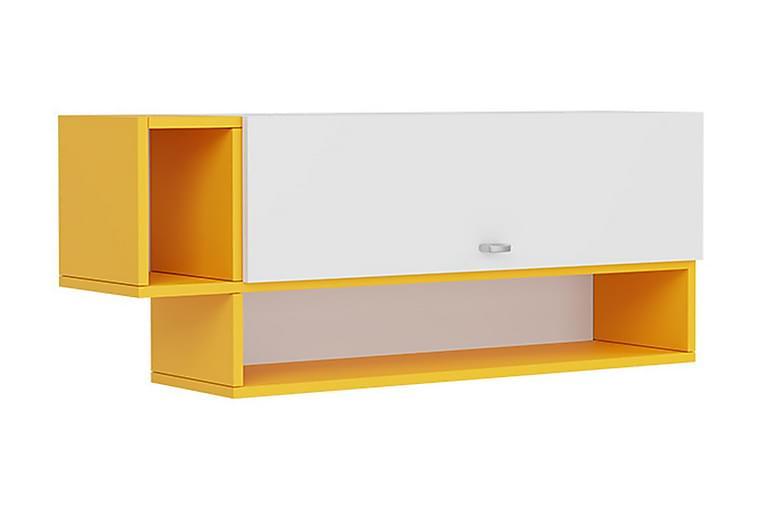 Hängskåp Ridino 27x100 cm - Vit/Gul - Möbler - Förvaring - Hyllor