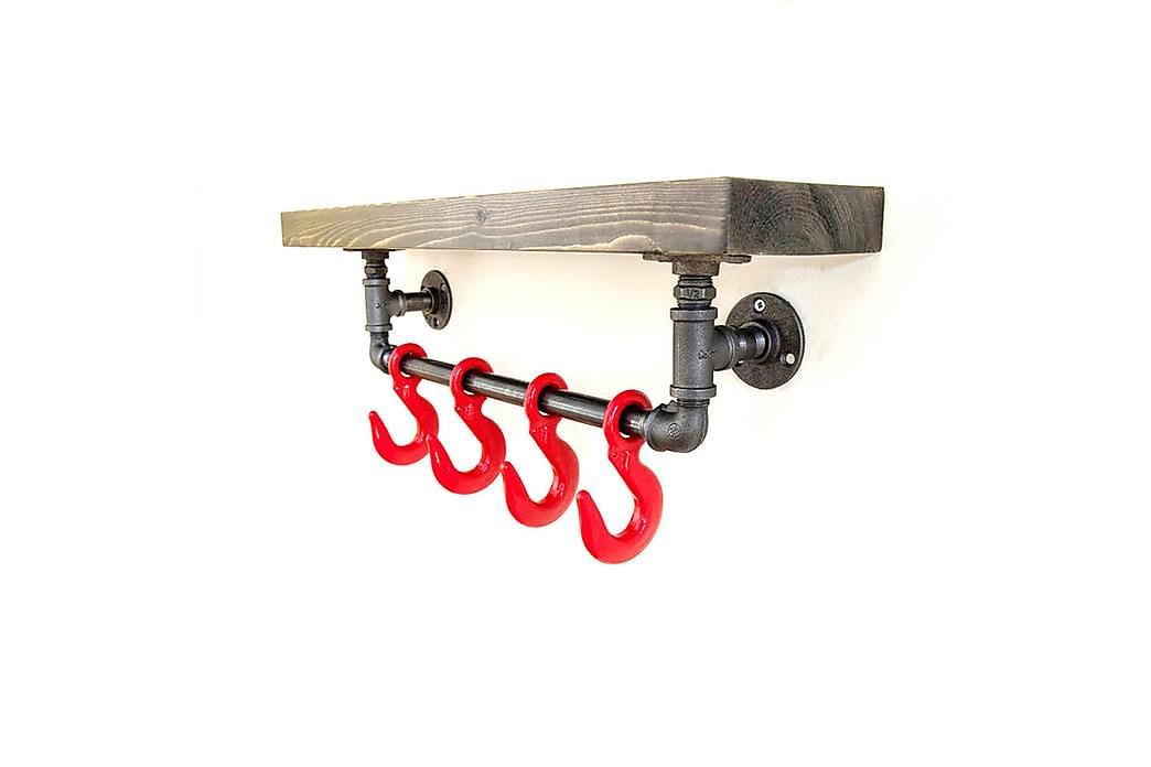 Pappershållare Valid med Hylla 60 cm - Brun|Svart - Möbler - Förvaring - Hyllor