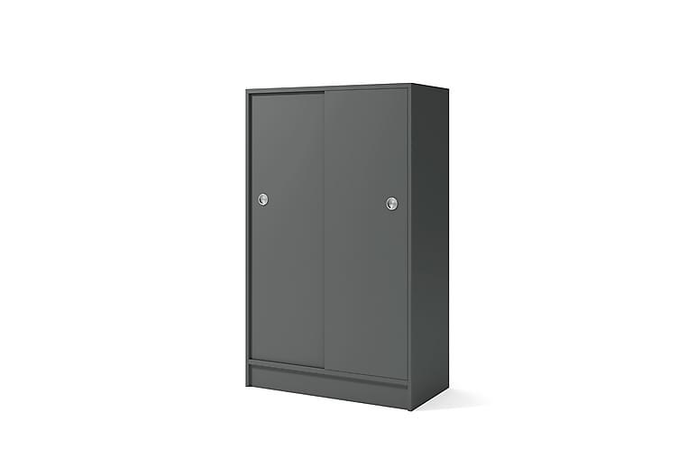 Skjutdörrsskåp i Mörkgrå laminat 81x133 cm - Lanab Group - Möbler - Förvaring - Hyllor
