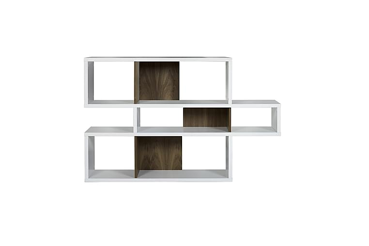 Vägghylla London 156 cm Vit/Valnöt - Temahome - Möbler - Förvaring - Hyllor