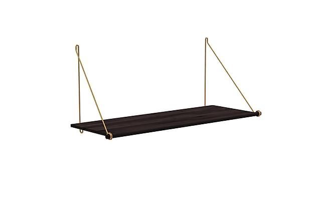 Vägghylla Loop Shelf 72 cm - Svart|Mässing - Möbler - Förvaring - Hyllor