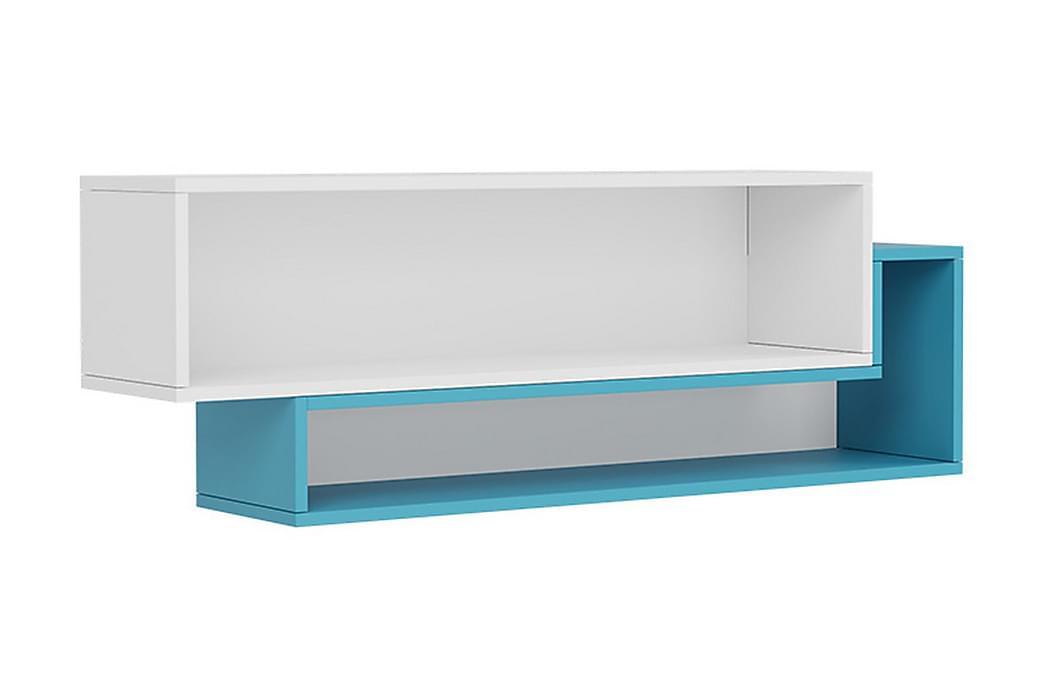 Hylla 115 cm - Vit Blå Grön - Möbler - Förvaring - Hyllor