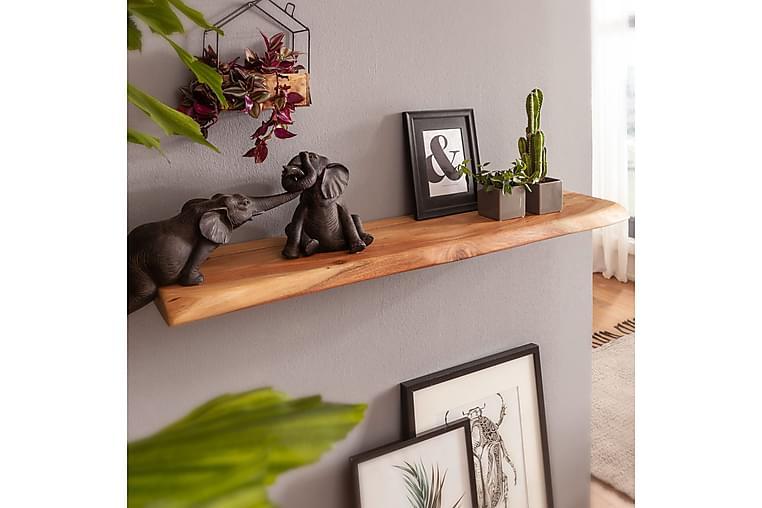 Vägghylla Rong 80x25 cm - Trä natur - Möbler - Förvaring - Hyllor