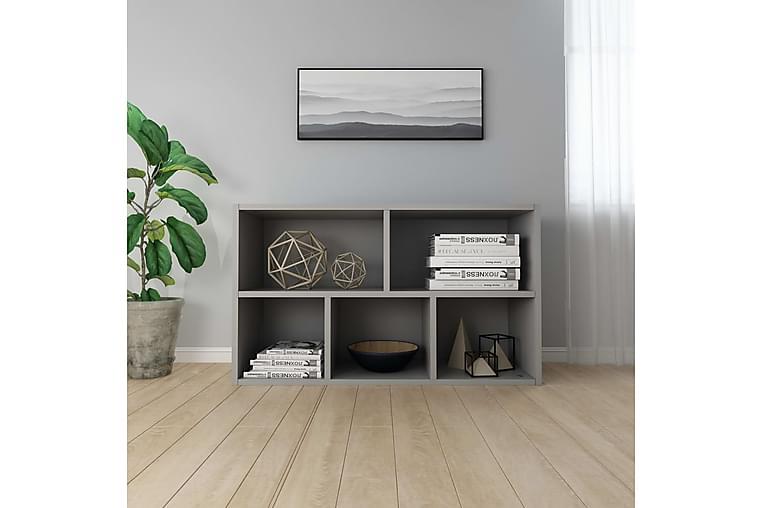 Bokhylla/skänk grå 50x25x80 cm spånskiva - Grå - Möbler - Förvaring - Sideboard & skänk