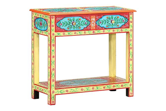 Handmålad skänk 80x35x75 cm massivt mangoträ - Flerfärgad - Möbler - Förvaring - Sideboard & skänk