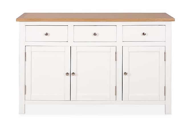 Skänk 110x33,5x70 cm massiv ek - Vit - Möbler - Förvaring - Sideboard & skänk