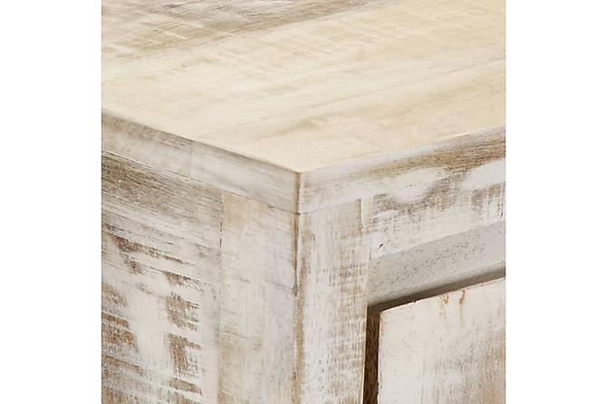 Skänk 160x40x76 cm massivt mangoträ - Vit - Möbler - Förvaring - Sideboard & skänk