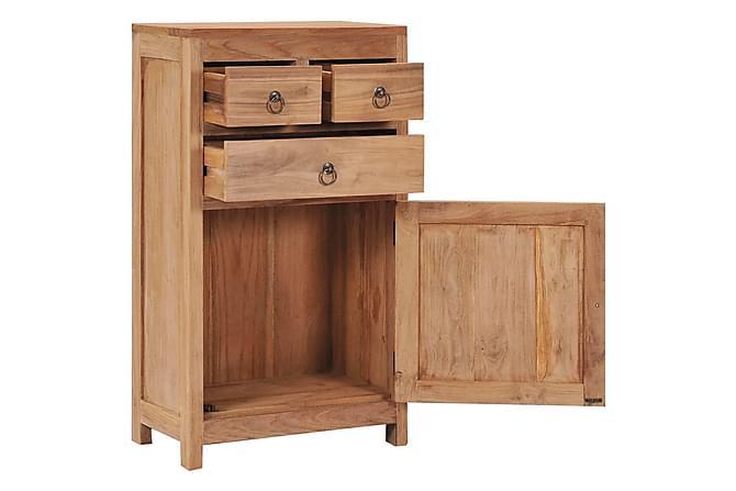 Skänk 50x30x90 cm massiv teak - Brun - Möbler - Förvaring - Sideboard & skänk