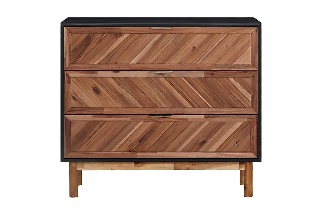 Skänk 90x33,5x80 cm massivt akaciaträ och MDF - Brun - Möbler - Förvaring - Sideboard & skänk