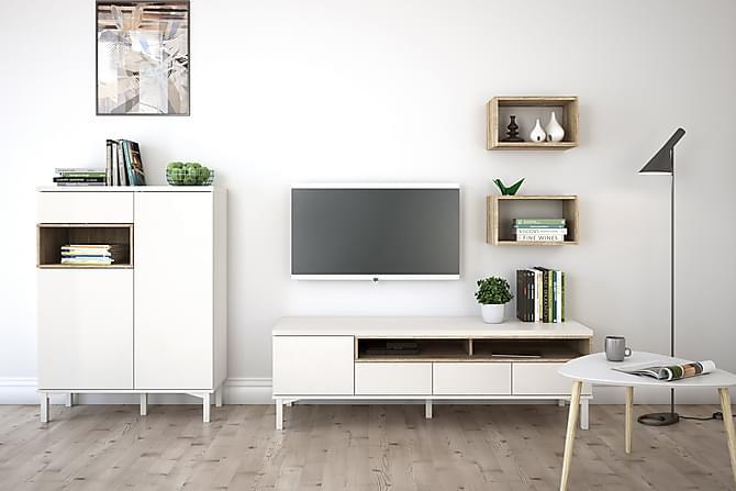 Skänk Abner 89 cm - Vit|Ek - Möbler - Förvaring - Sideboard & skänk