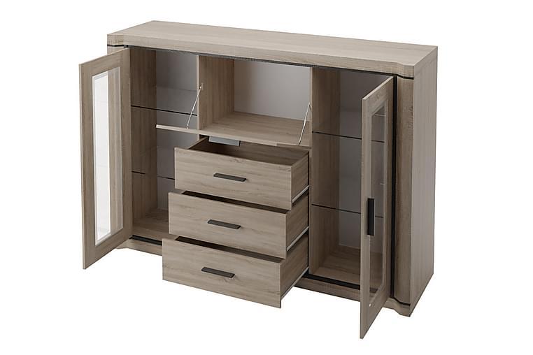 Skänk Dallas 157x43,5x111 cm - Ek/Led-Belysning - Möbler - Förvaring - Sideboard & skänk