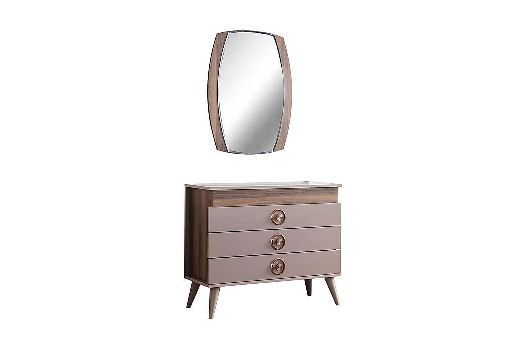 Skänk Epoca 100x44 cm utan Spegel - Grå/Natur - Möbler - Förvaring - Sideboard & skänk