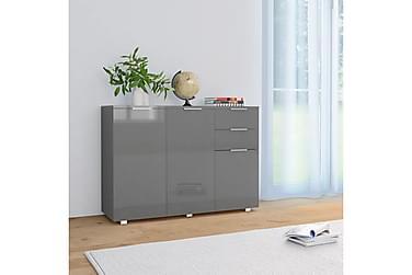 Skänk grå högglans 107x35x76 cm