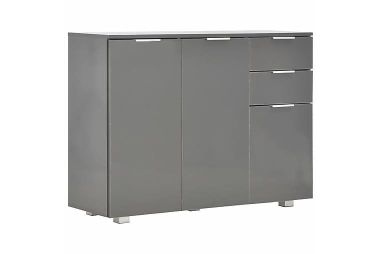 Skänk grå högglans 107x35x76 cm - Grå - Möbler - Förvaring - Sideboard & skänk