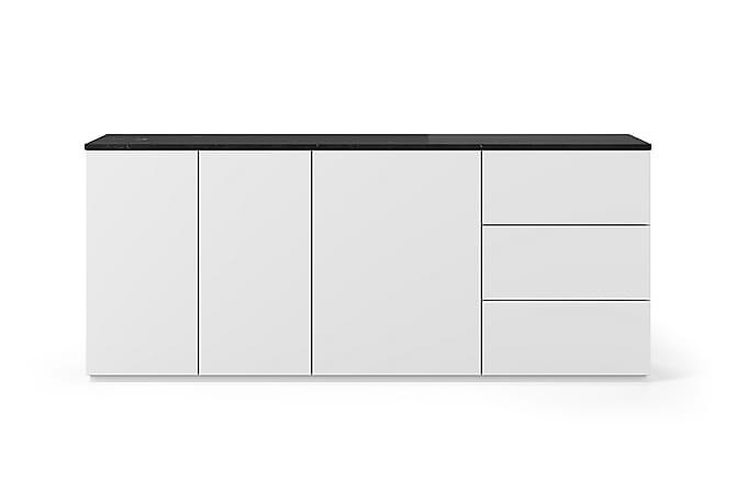 Skänk Join 200x84 cm Marmor Vit/Svart - Temahome - Möbler - Förvaring - Sideboard & skänk