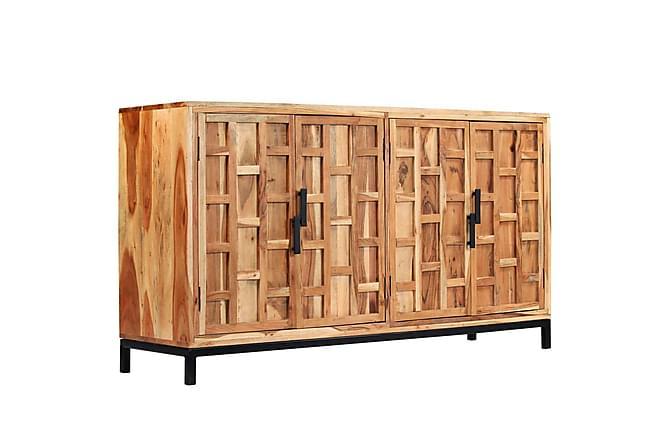 Skänk massivt akaciaträ 145x40x80 cm - Beige|Brun|Svart - Möbler - Förvaring - Sideboard & skänk