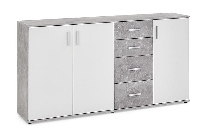 Skänk Nelma 160 cm - Grå|Vit - Möbler - Förvaring - Sideboard & skänk