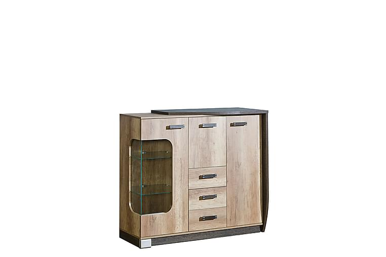 Skänk Romero 130x46x114 cm - Trä/Natur - Möbler - Förvaring - Sideboard & skänk