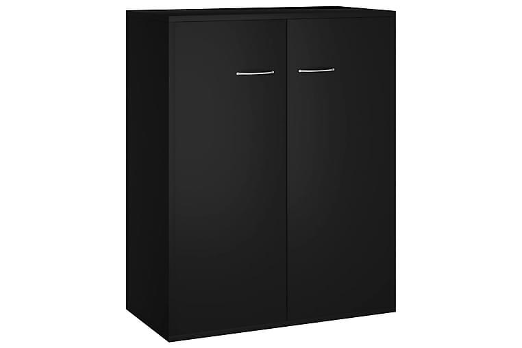 Skänk svart 60x30x75 cm spånskiva - Svart - Möbler - Förvaring - Sideboard & skänk