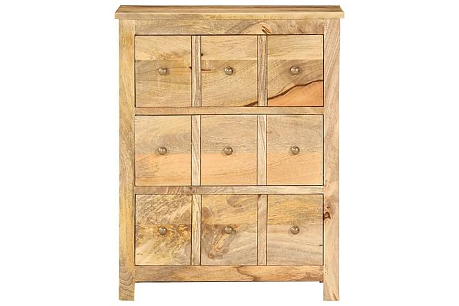 Skänk 60x35x75 cm massivt mangoträ - Brun - Möbler - Förvaring - Sideboard & skänk