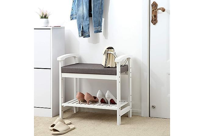 Skoskåp Nikole - Vit - Möbler - Förvaring - Skoförvaring
