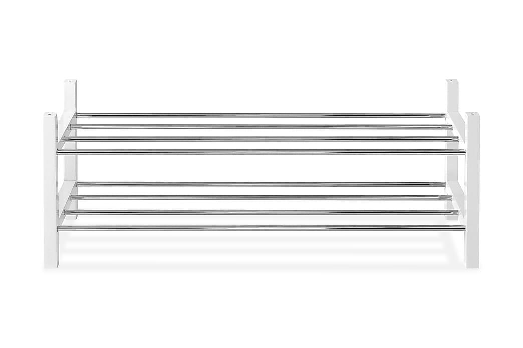 Skoställ Copley 97 cm - Vit|Krom - Möbler - Förvaring - Skoförvaring