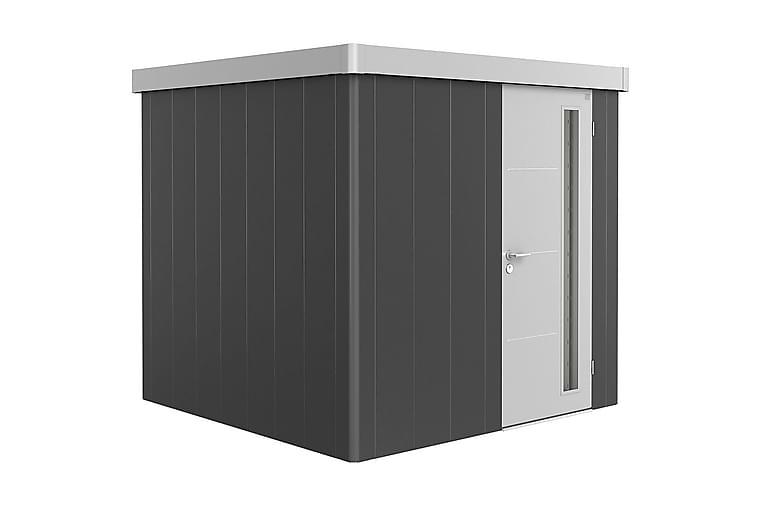 Skjul Neo 2B 3.1 Standarddörr Vägg Mörkgrå Tak+Dörr Silver - Biohort - Möbler - Förvaring - Förvaring ute
